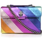 Womens Kurt Geiger London Leather Kensingtonrainbow Stripe Leather Bag