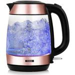 Tower 3KW 1.7L Glass Kettle T10040RG - Rose Gold