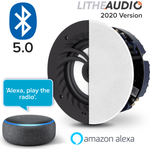 Lithe Audio Bathroom Bluetooth Ceiling Speaker + Echo Dot 3rd Gen