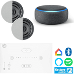 Systemline E50 - Two Speaker Bluetooth Music System with Echo Dot (Ama