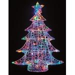 Outdoor christmas decorations Lighting Premier 1m Lit Soft Acrylic Christmas Tree with 120 Multi LEDs Outdoor Christmas Decorations