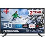 Ferguson F50RTS4K 50 inch Smart 4K Ultra HD LED TV with streaming apps and catch up TV built-in | Made in the UK