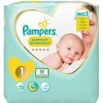 Pampers Premium Protection Size 1, 22 Nappies, 2-5kg (4 x 22s)