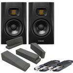 Adam Audio T5V (Pair) + Isolation Pads + Leads Bundle
