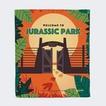 Jurassic Park Gates Fleece Blanket