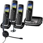 Panasonic KX-TGJ324EB Quad Cordless Phones with Corded Headset