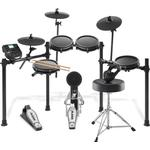 Alesis Nitro-MESH Electro Drum Kit, Stool, Sticks, Pedals & Headphones