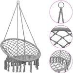 vidaXL Hammock Swing Chair 80 cm Grey - Grey