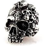 Mind Skull Pewter Bead