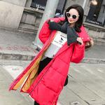 2021 winter long thickening of bread served cotton-padded clothes in the new female down cotton-padded jacket dress
