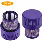 Soekavia - 2 Spare Parts Filter for Dyson V10 SV12 Vacuum Cleaner, Washable Filter Accessories for Dyson V10 Cyclone Absolute / Animal / Total Clean