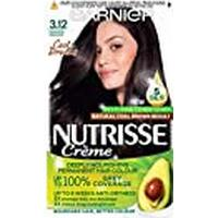 Garnier Nutrisse Brown Hair Dye Permanent, Up to 100% Grey Hair Coverage, with 4 Oils Conditioner - 3.12 Cool Frozen Brown