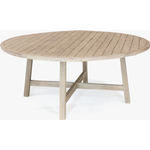 KETTLER Cora 8 Seat Round Garden Dining Table, FSC-Certified (Acacia Wood), Natural