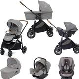 Joie Versatrax (i-Snug & Every Stage) Travel System with Carrycot Bundle - Grey Flannel