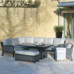 2021 Bramblecrest Portofino Rectangle Outdoor Sofa Set with Adjustable Table, Bench & Arm Chair