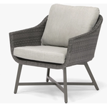 KETTLER LaMode Garden Lounge Chairs with Cushions, Set of 2, Grey Ash