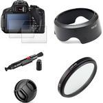Uv Filter EW63 Lens Hood Cap + Gehard Glas Screen Protector Voor Canon Eos 200D Mark Ii 250D Rebel SL2 SL3 18-55 Mm Stm Lens