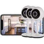 Time2 Sophia2 1080p Fixed Indoor WiFi Home Security Camera (3 Pack)