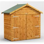 Ps Sheds - 6 x 4 Premium Tongue and Groove Apex Bike Shed - 12mm Tongue and Groove Floor and Roof