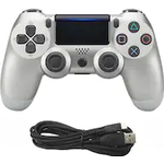 Wired Game Controller for Sony PS4 Silver