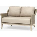 KETTLER Cora Lounging 2 Seater Sofa, FSC-Certified (Acacia Wood), Smoke White
