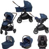 Joie Versatrax (i-Snug & Every Stage) Travel System with Carrycot Bundle - Deep Sea