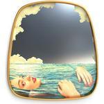 Toiletpaper Mirror - / Sea Girl - 54 x 59 cm by Seletti Multicoloured/Gold/Mirror