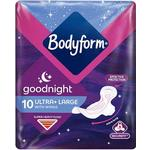 Bodyform Ultra Goodnight Towels with Wings 10