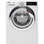Hoover DWTL413AIW3 Freestanding 13kg 1400rpm Wizard Smart Washing Machine WhiteChrome with Touch Controls, A+++ Energy Rating.