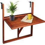 Balcony Hanging Table Folding Wooden Side Bistro Terrace Patio Railing Outdoor