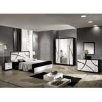 Adrianne Italian White And Black Gloss Bedroom Furniture Collection