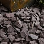 Blooma Plum 30-60mm Slate Decorative chippings Large Bag