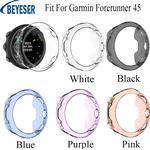 Siliconen Case Cover Voor Garmin Forerunner 45 Smartwatch Tpu Protector Frame Shell Voor Garmin Forerunner 45 Armband Accessoires