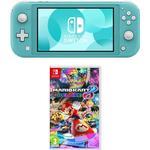Nintendo Switch Lite & Mario Kart 8 Deluxe Bundle - Turquoise, Turquoise