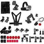 34-in-1 Accessory Kit with Chest Mount for GoPro Cameras