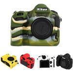 Rubber Silicon Case Body Cover Protector Skin voor Nikon D850 Camera - Rood
