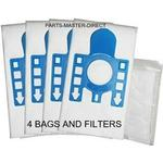 Fits Miele GN Complete C3 Cat&Dog PowerLine SGEE1 Vacuum Cleaner Bags 4 Pack