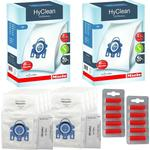 Miele GN Vacuum Hoover Bags - Complete C2 C3 Cat & Dog Powerline Silence Ecoline Genuine Original Hyclean + Filters (2 Boxes + Fresheners)