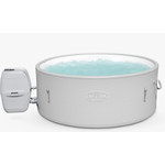 Lay-Z-Spa Singapore AirJet Plus Inflatable Round Hot Tub & Clearwater Spa Chemical Starter Kit, 5 Person