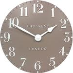 "Thomas Kent 20"" Arabic Wall Clock, Clay"