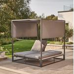 2021 Kettler Elba Garden Daybed With Canopy - Pewter Grey