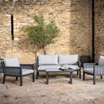 2021 Bramblecrest Portofino 2 Seater Outdoor Sofa Set With Ceramic Coffee Table