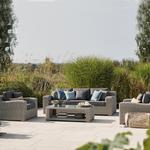 2021 Kettler Palma Luxe 3 Seater Sofa 2 Armchair Coffee Table Set - Whitewash