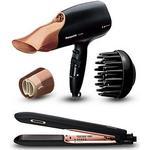 Panasonic NA65 Rose Gold Hair Dryer & HS99 Rose Gold Hair Straightener Bundle, Rose Gold, Women