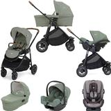 Joie Versatrax (i-Snug & Every Stage) Travel System with Carrycot Bundle - Laurel