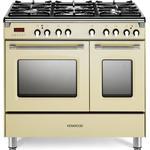 KENWOOD CK435CR 90 cm Dual Fuel Range Cooker - Cream & Stainless Steel, Stainless Steel