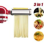 Briday - Pasta Roller and Cutting Tool Attachment for KitchenAid Stand Mixer, Pasta Set Accessories, Pasta Sheet Roller/Spaghetti Cutter, Fettuccine