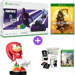 Microsoft Xbox One S 1TB Console and Fortnite - Dark Violet with Mortal Kombat 11, Sonic the Hedgehog Knuckles Cable Guy and Assassins Creed Odyssey Gift Box