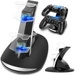 Controller Lader Dock Led Dual Usb PS4 Charging Stand Station Cradle Voor Sony Playstation 4 PS4 / PS4 Pro /PS4 Slim Controller