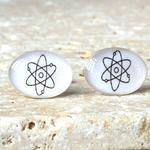 Solid Silver Molecule Cufflinks, Silver